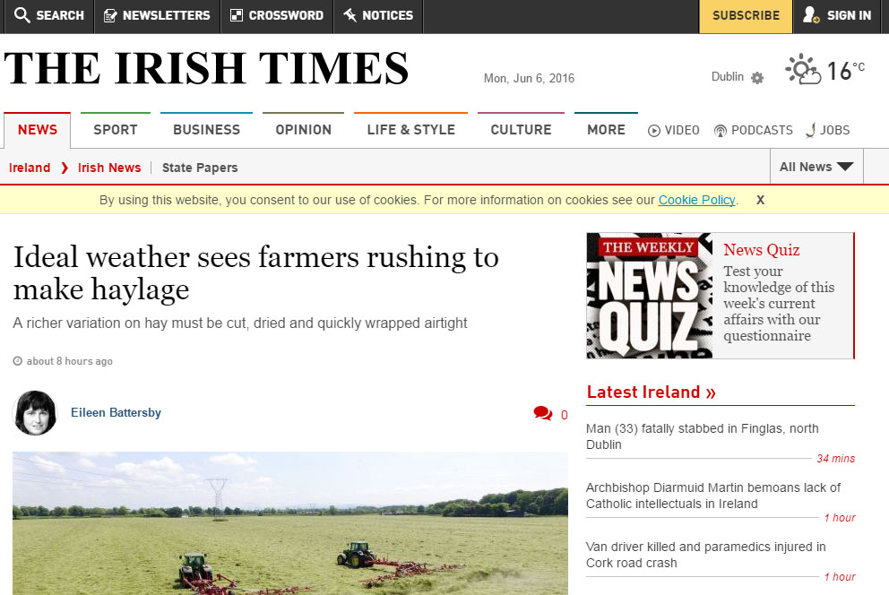 Ideal weather sees farmers rushing to make haylage