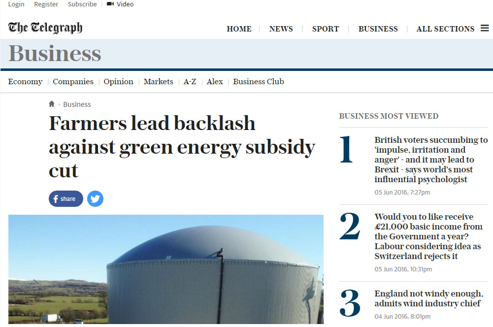 Farmers lead backlash against green energy subsidy cut