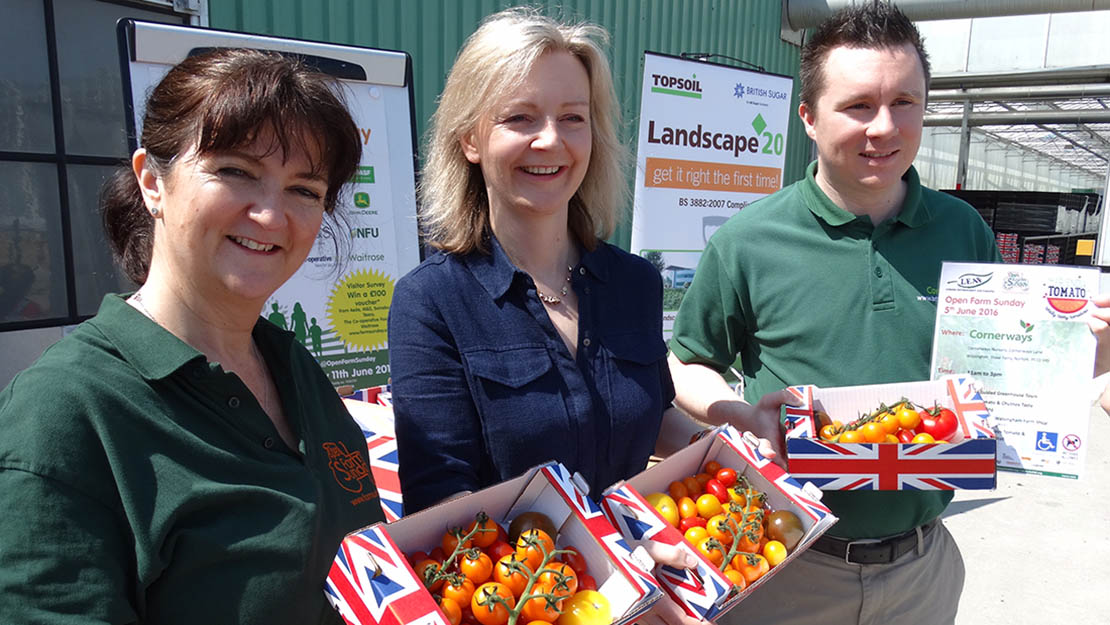 Liz Truss visited Cornerways Nursery, Norfolk.