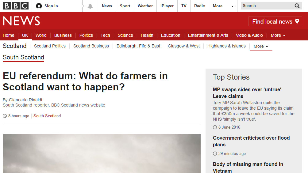 EU referendum: What do farmers in Scotland want to happen?