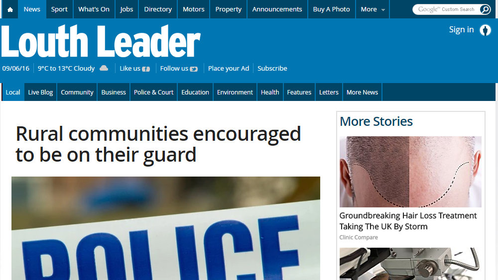 Rural communities encouraged to be on their guard