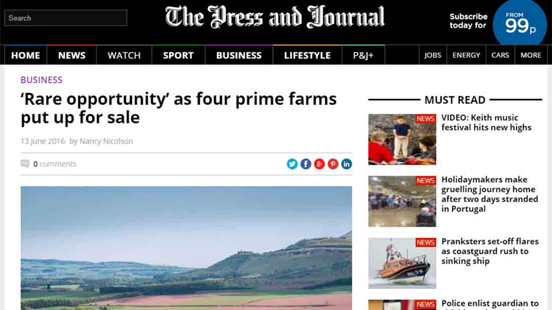 'Rare opportunity' as four prime farms put up for sale