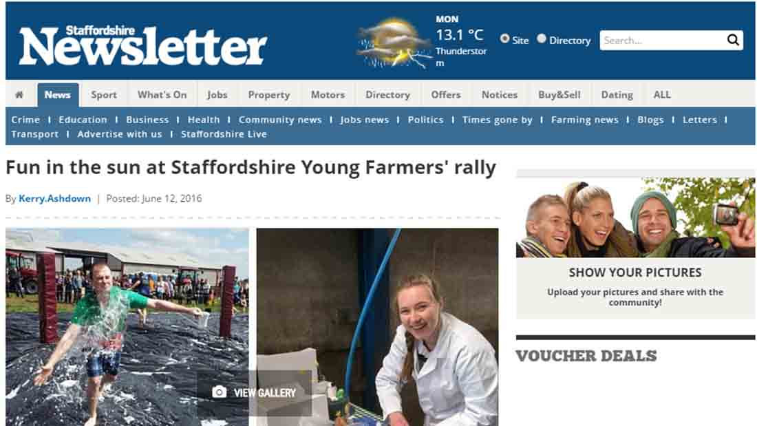 Fun in the sun at Staffordshire Young Farmers' rally