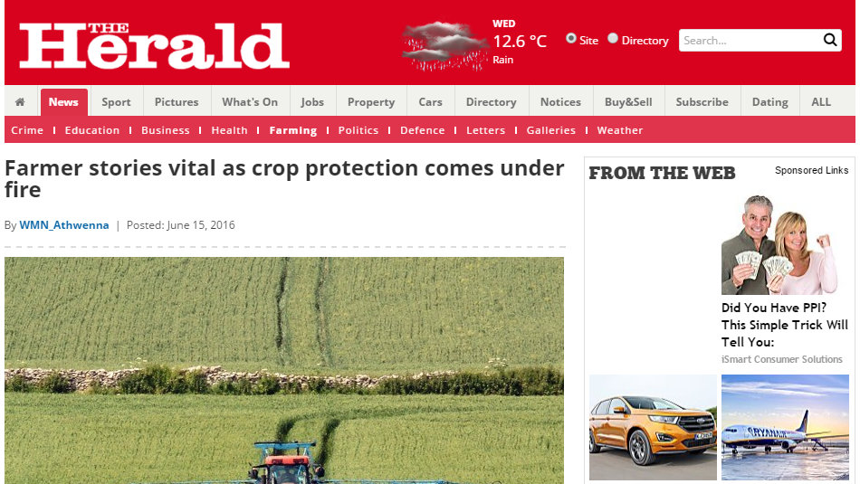 Farmer stories vital as crop protection comes under fire