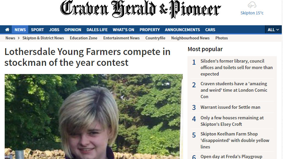 Lothersdale Young Farmers compete in stockman of the year contest