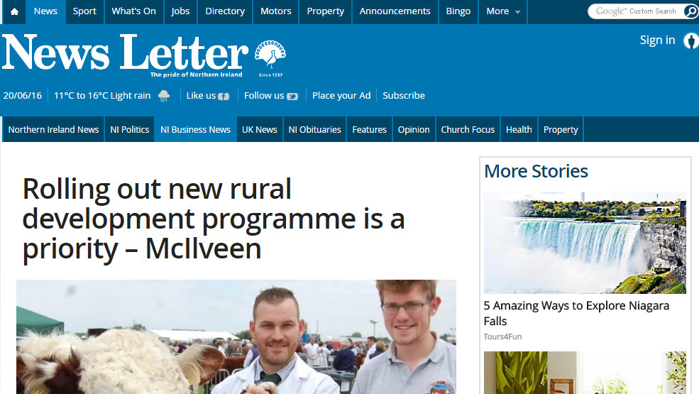 Rolling out new rural development programme is a priority – McIlveen