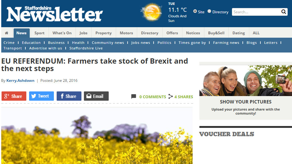 Farmers take stock of Brexit and the next steps