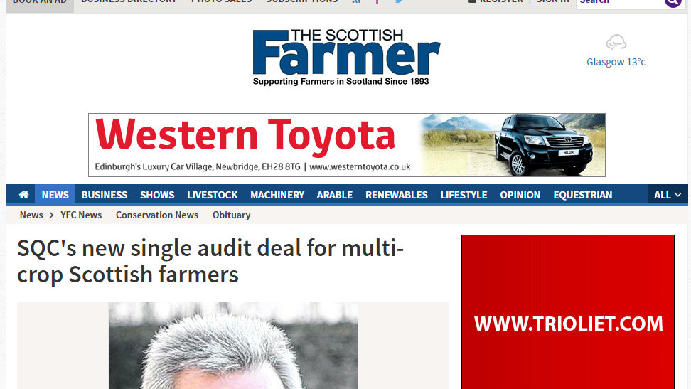 SQC's new single audit deal for multi-crop Scottish farmers