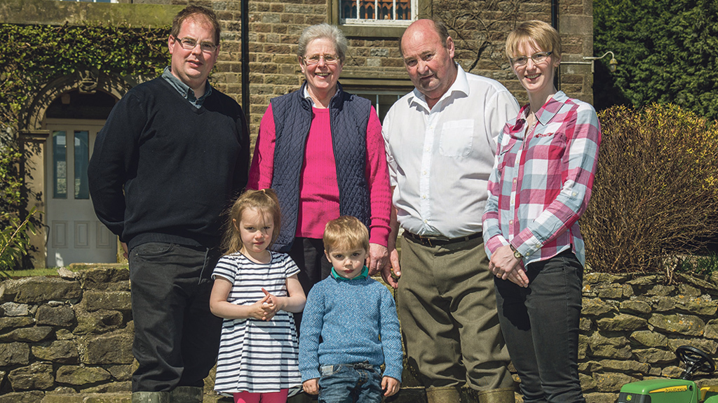 Left to right: Mark, Kathleen, Stuart, and Sarah Verity, with children Joanna (4) and Thomas (3).
