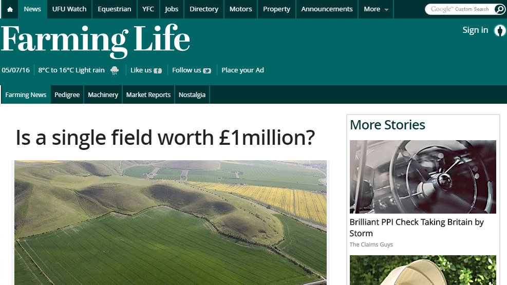 Is a single field worth £1million?