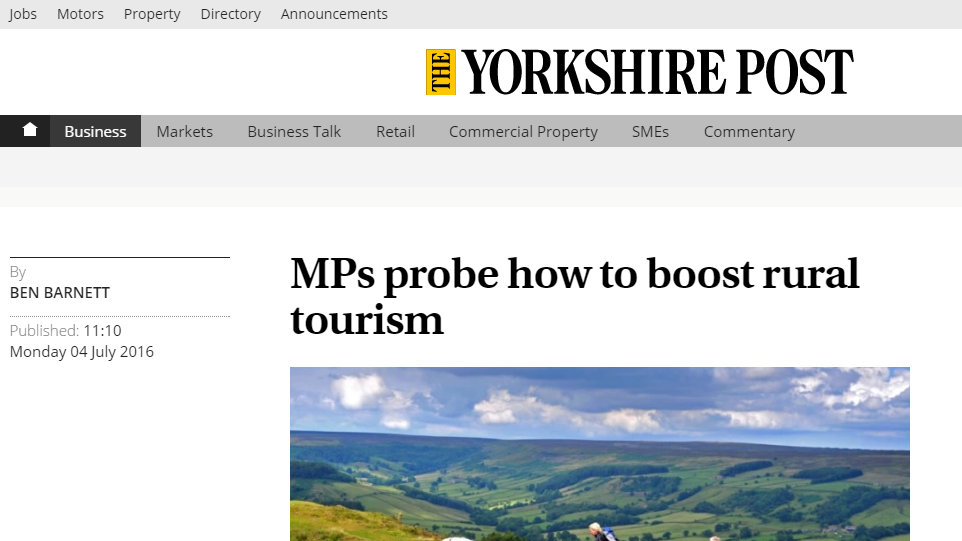 MPs probe how to boost rural tourism