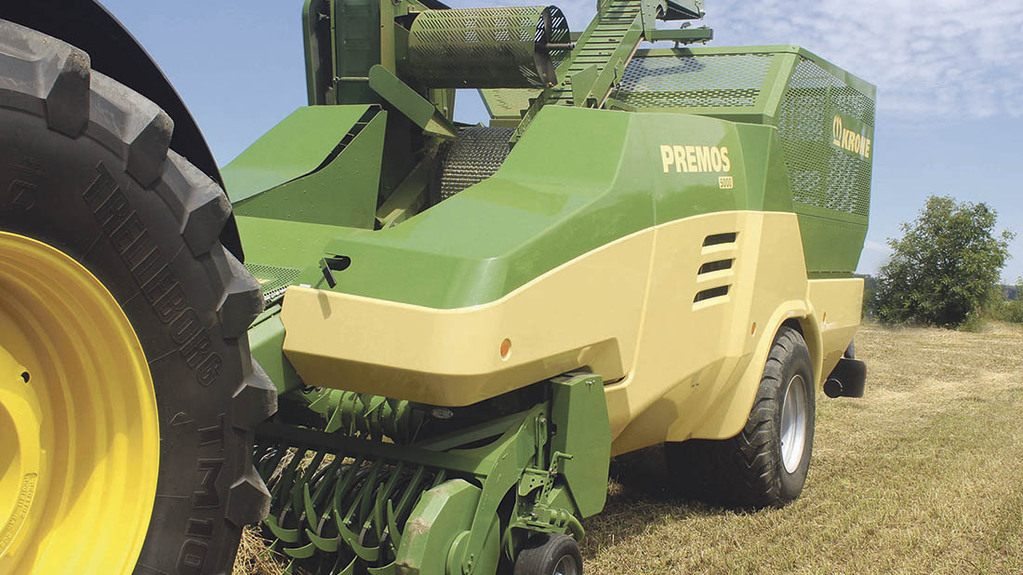 Krone demonstrates its Premos pelleter