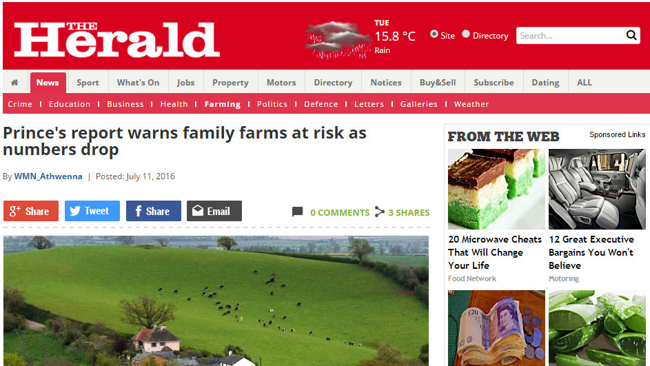 Prince's report warns family farms at risk as numbers drop
