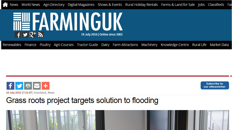 Grass roots project targets solution to flooding