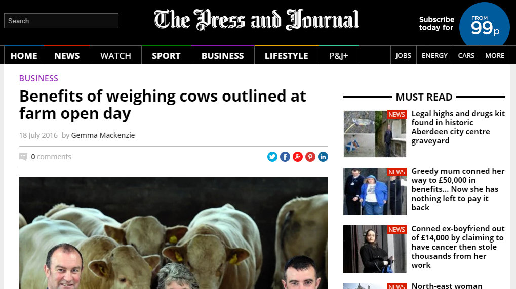 Benefits of weighing cows outlined at farm open day