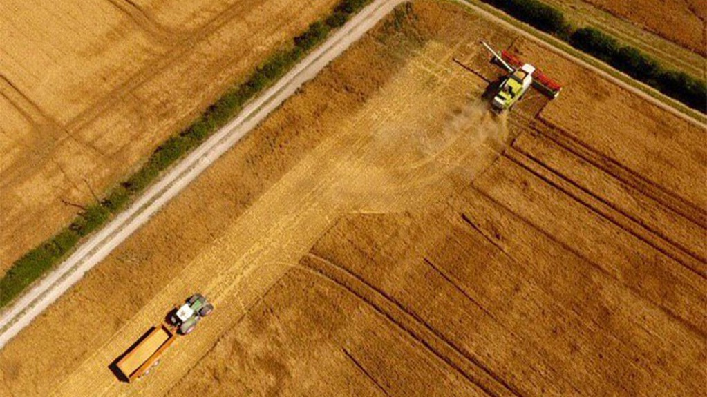 Birds-eye view of KWS Tower being harvested, yield around 7-7.5t/ha -David Walston, Cambridge