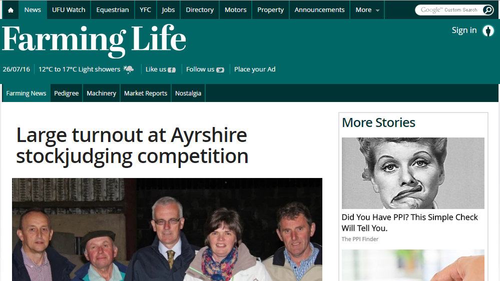Large turnout at Ayrshire stockjudging competition