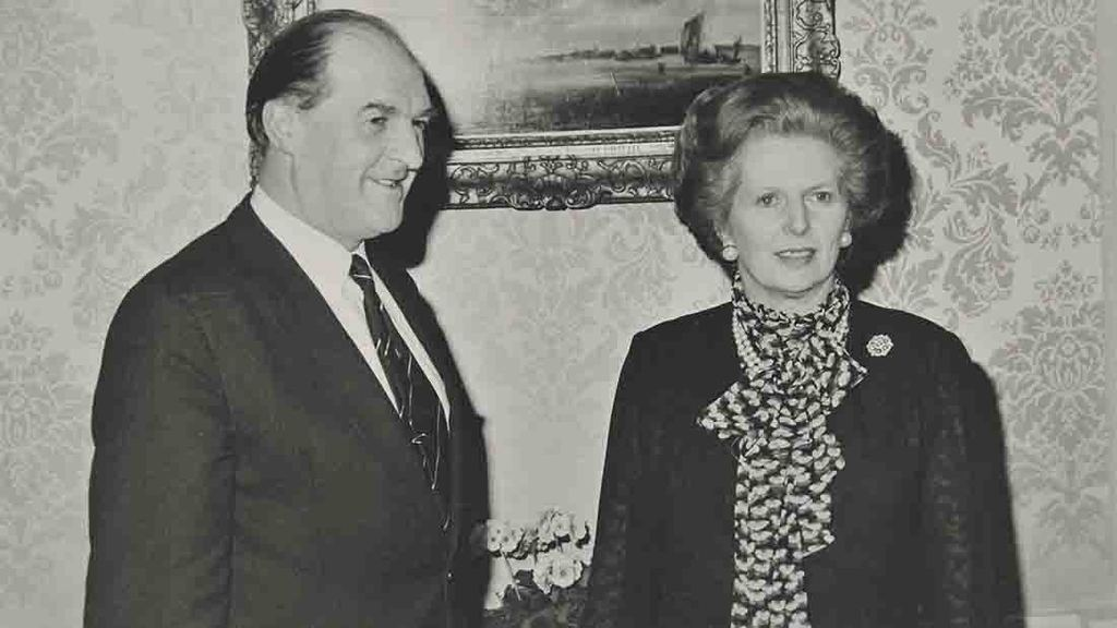 Lord Plumb with Margaret Thatcher