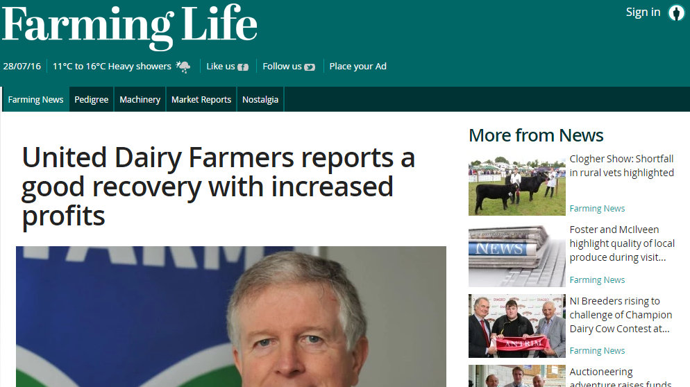 United Dairy Farmers reports a good recovery with increased profits