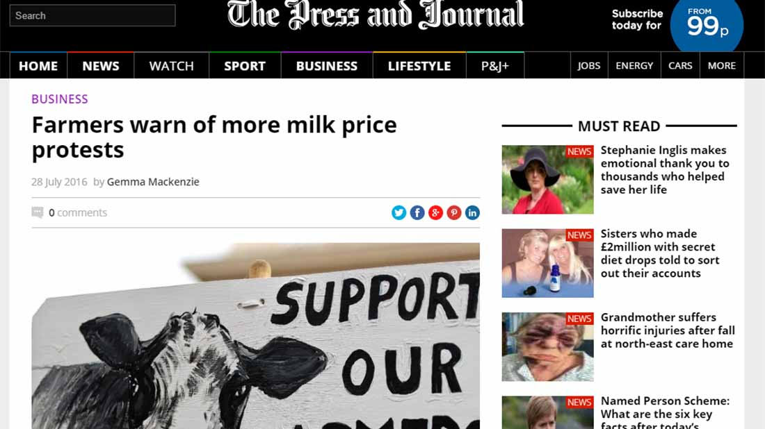 Farmers warn of more milk price protests