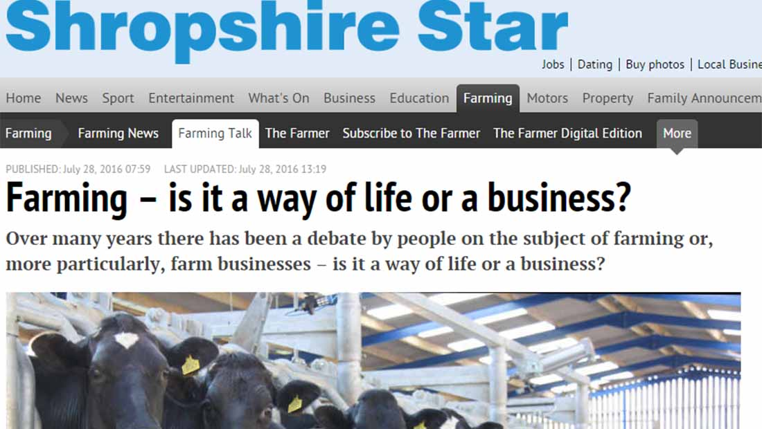 Farming – is it a way of life or a business?