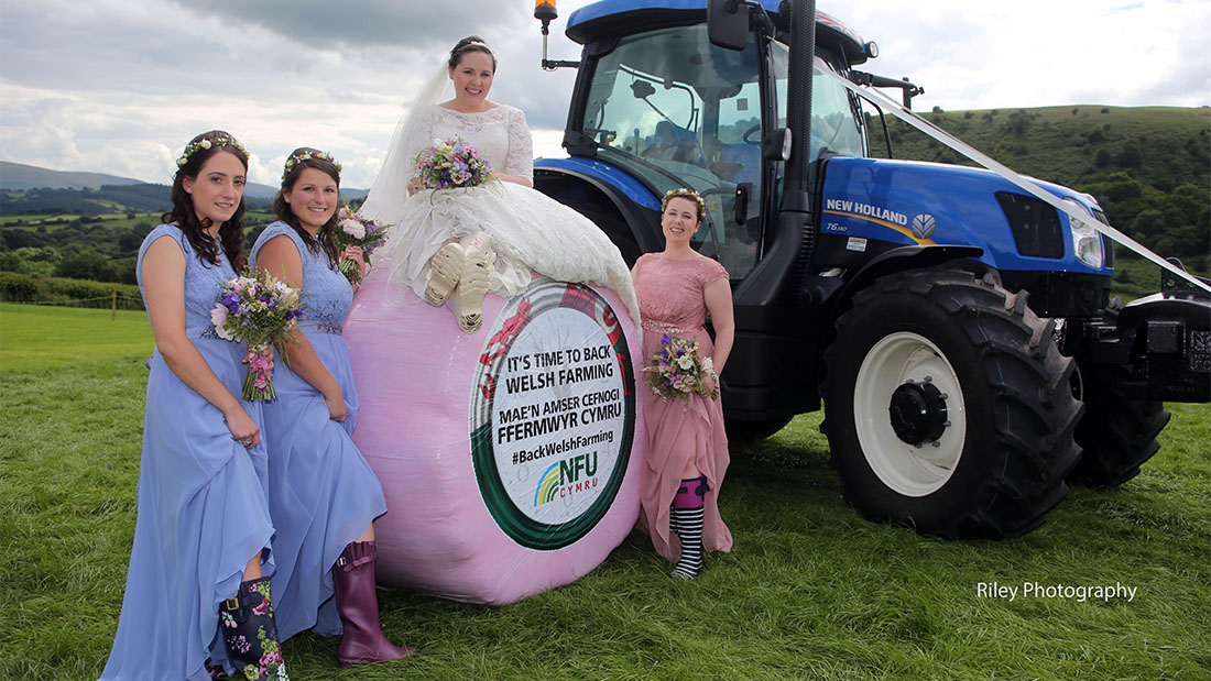 Couple vow to Back Welsh Farming on wedding day