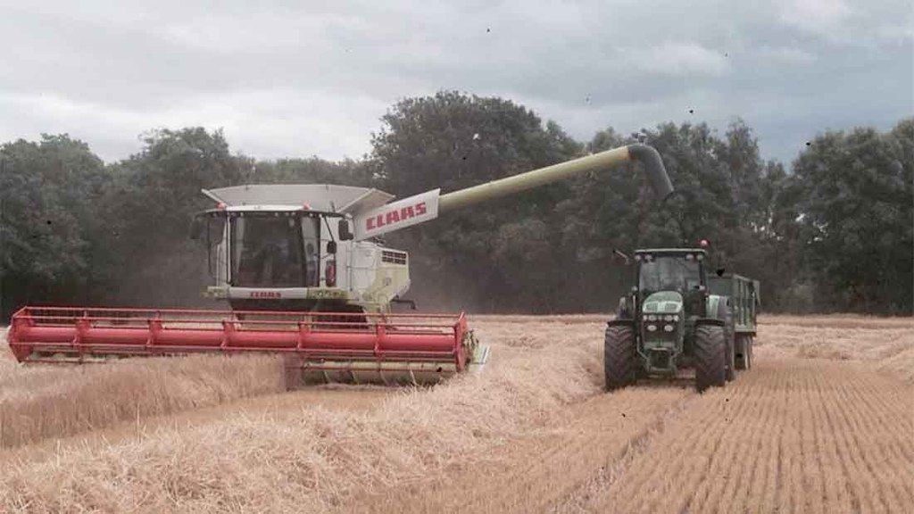Barley harvest underway in South Northumberland