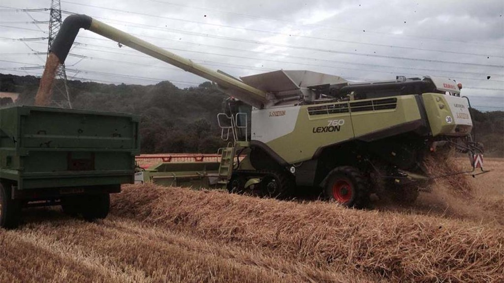 Barley harvest in South Northumberland