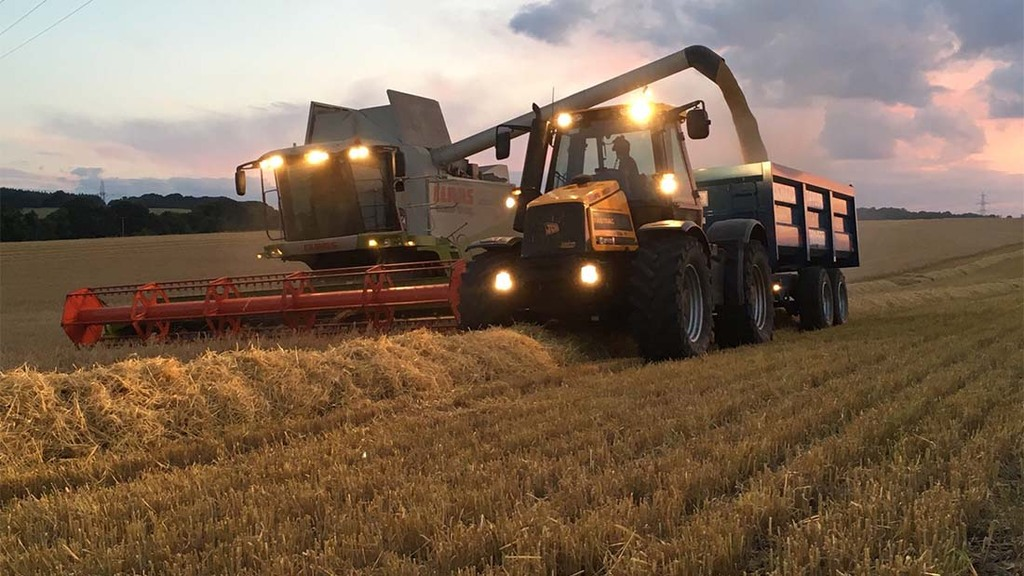 Combining through the night in Hertfordshire - Richard Taylor