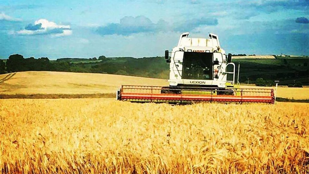 Combine is unleashed on 'the only sunny day we have had' - Richard Suddes, Northumberland