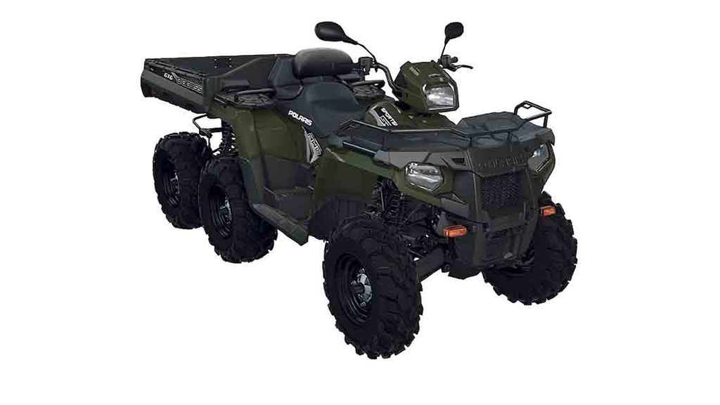 More cargo carrying capacity from Polaris six-wheeler