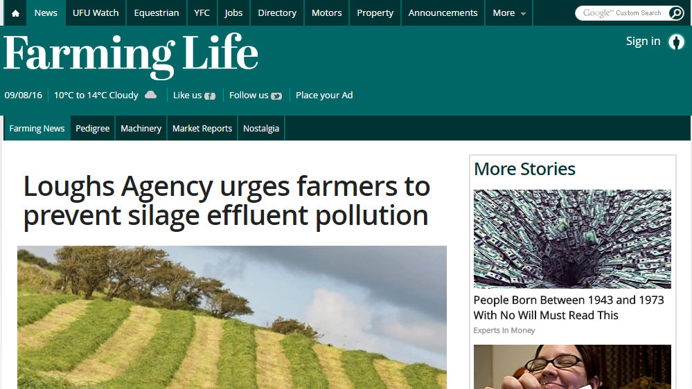 Loughs Agency urges farmers to prevent silage effluent pollution