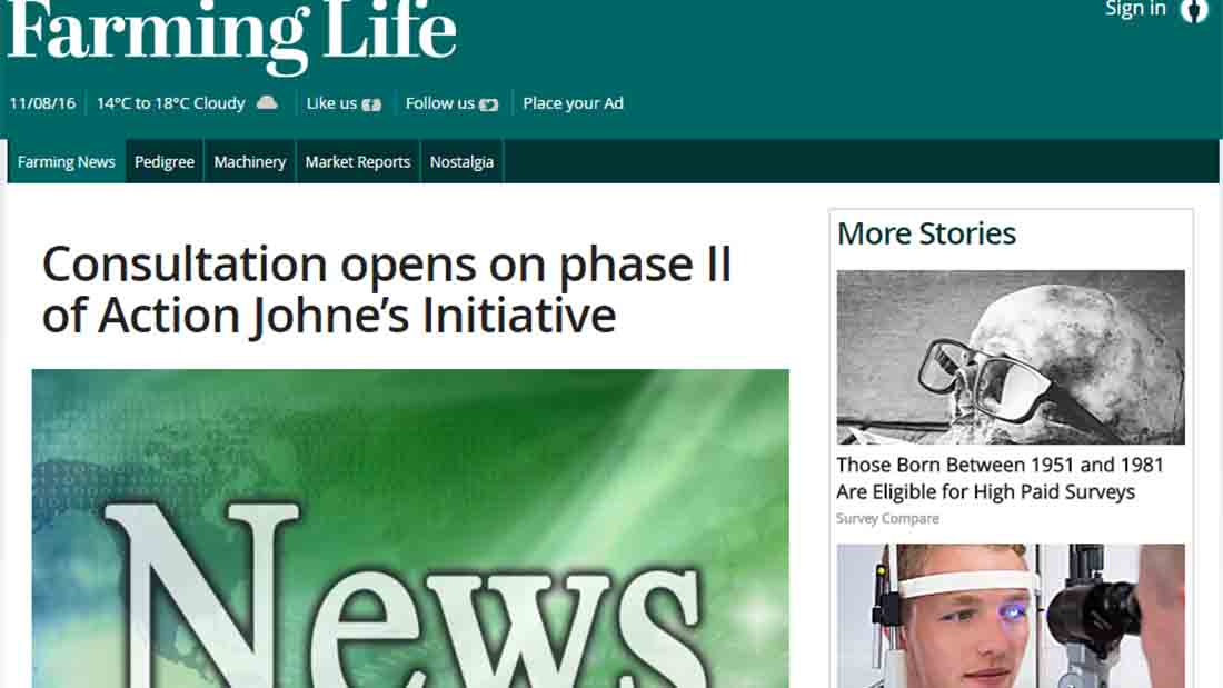 Consultation opens on phase II of Action Johne's Initiative
