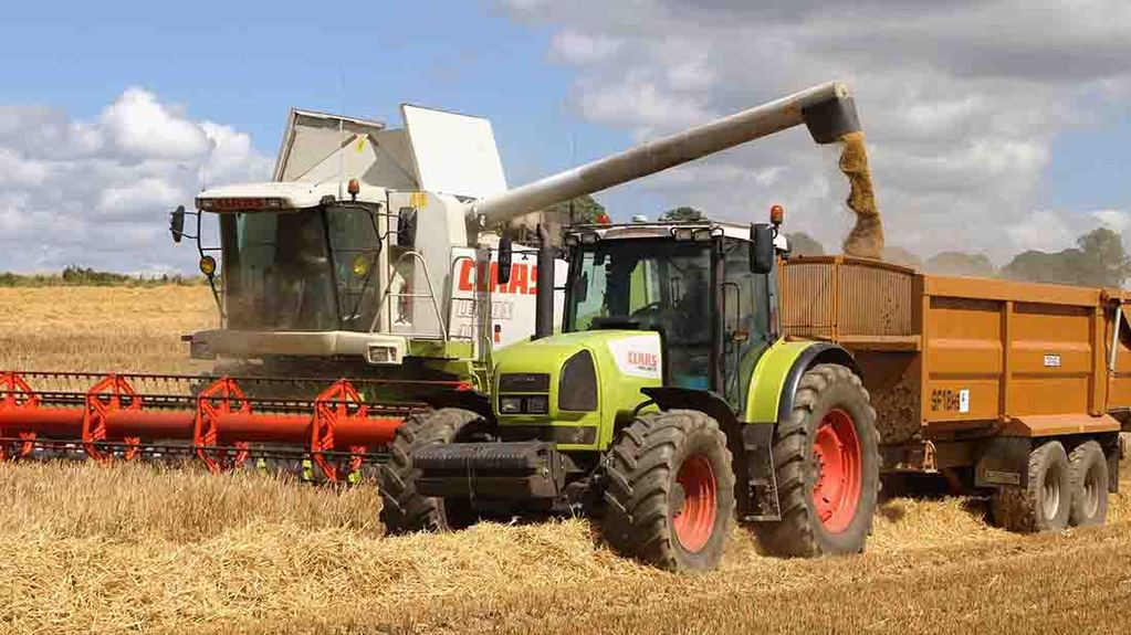Into the thick of barley harvest in Northumberland - Mick Vardy