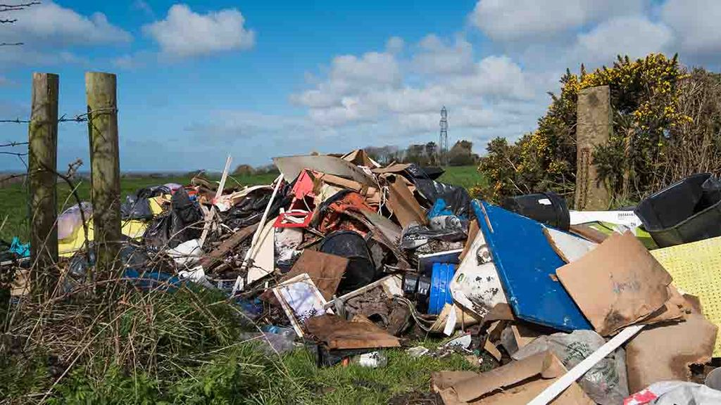 Fly-tipping incidents have hit one million for the first time in almost 10 years
