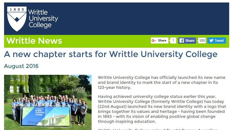A new chapter starts for Writtle University College