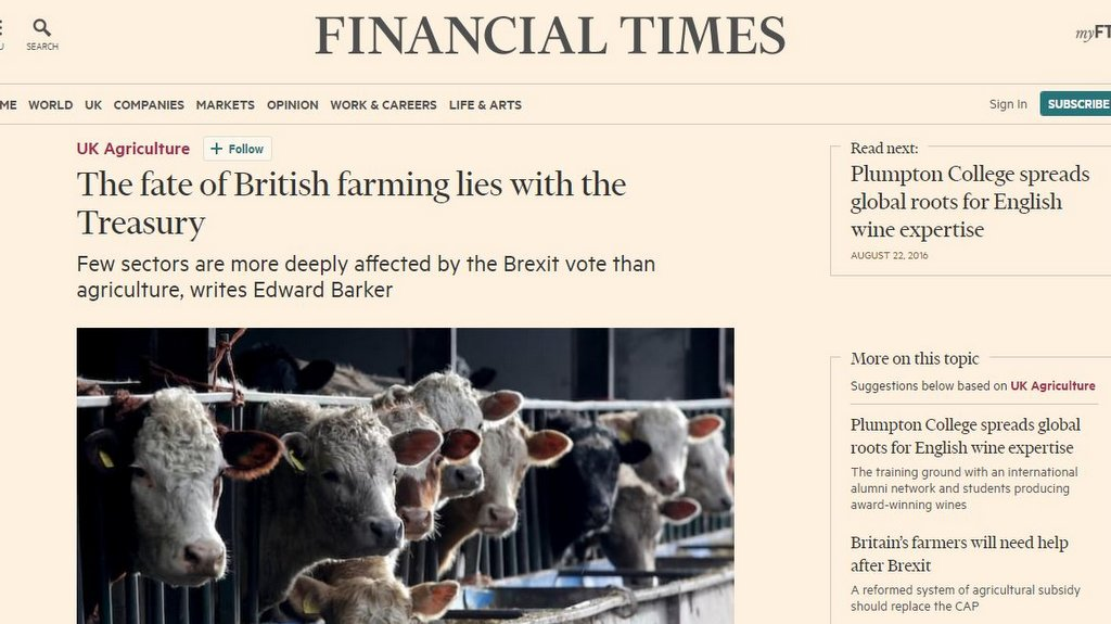 The fate of British farming lies with the Treasury