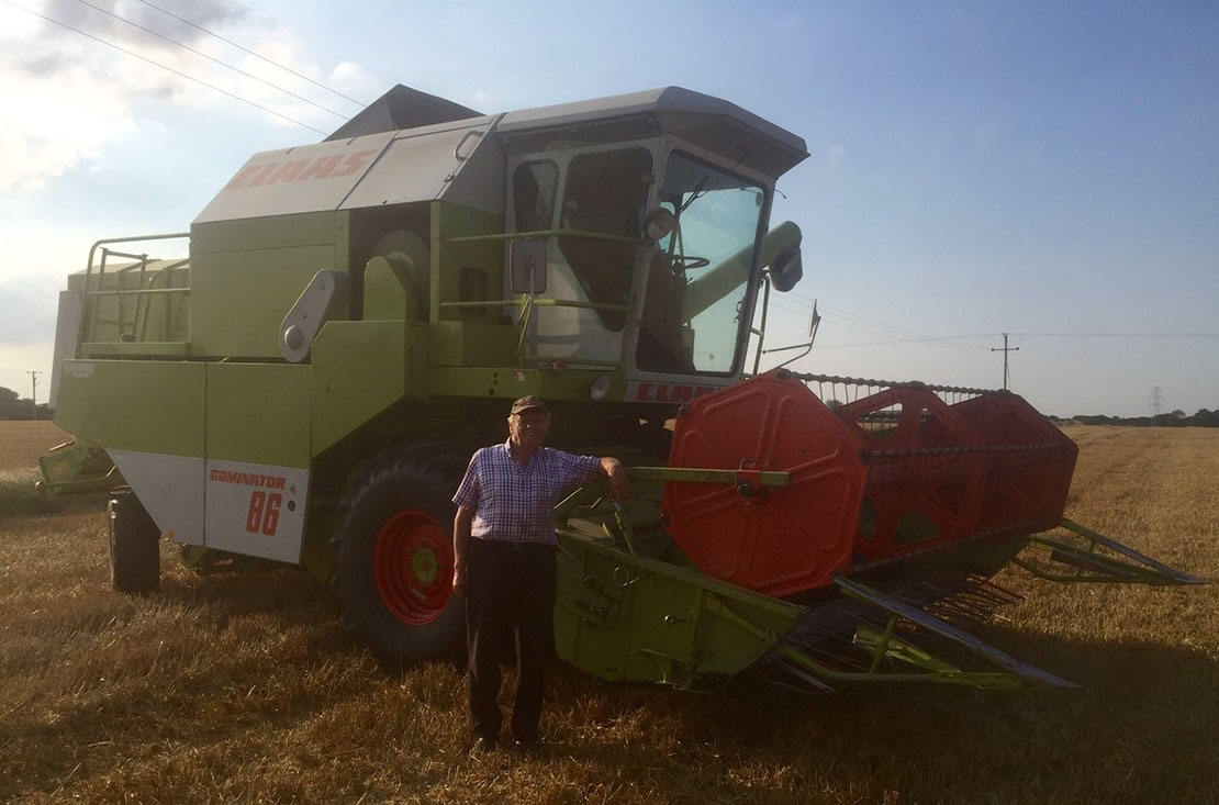 24 hours in farming post from Mark Downing - 'My Dad:my hero! 82 years old and into his 60th harvest'