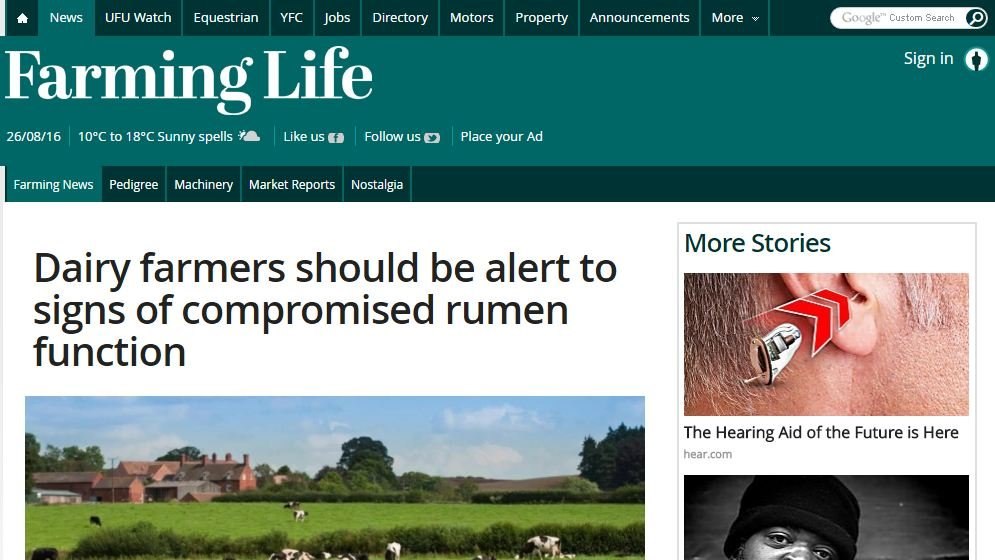 Dairy farmers should be alert to signs of compromised rumen function