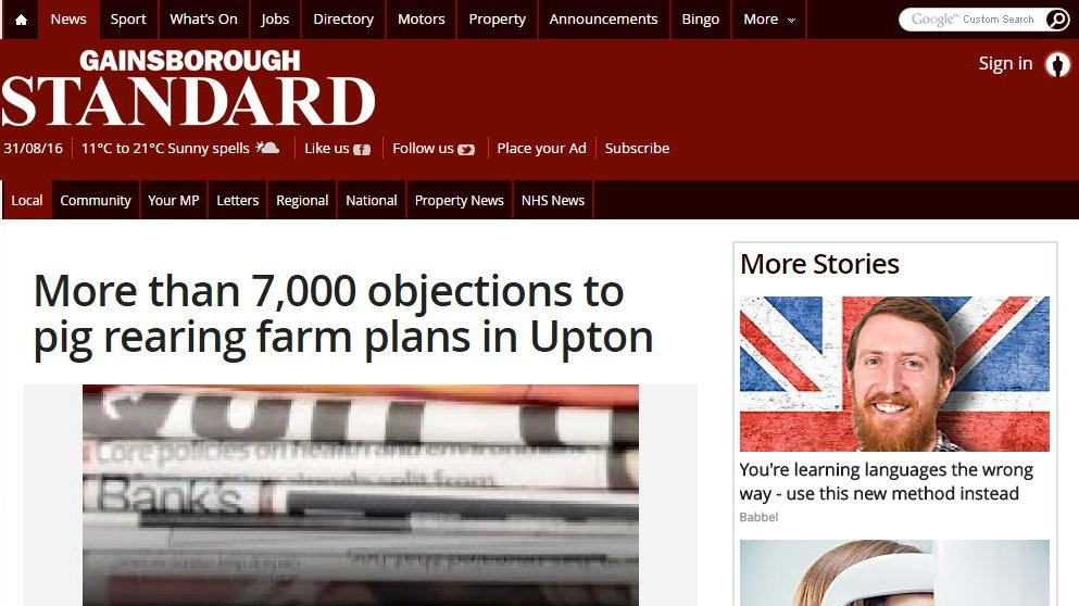 More than 7,000 objections to pig rearing farm plans in Upton