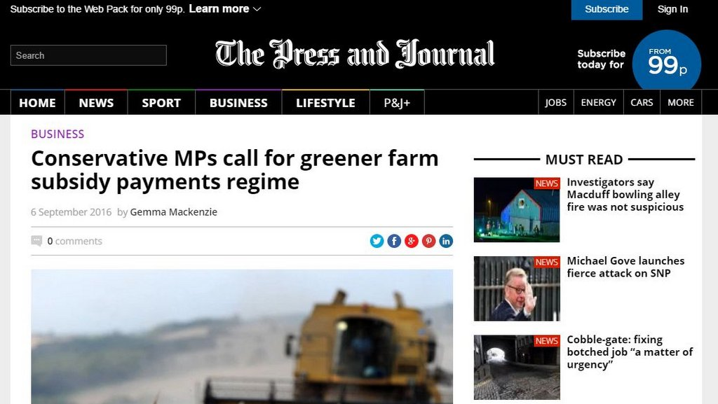 Conservative MPs call for greener farm subsidy payments regime