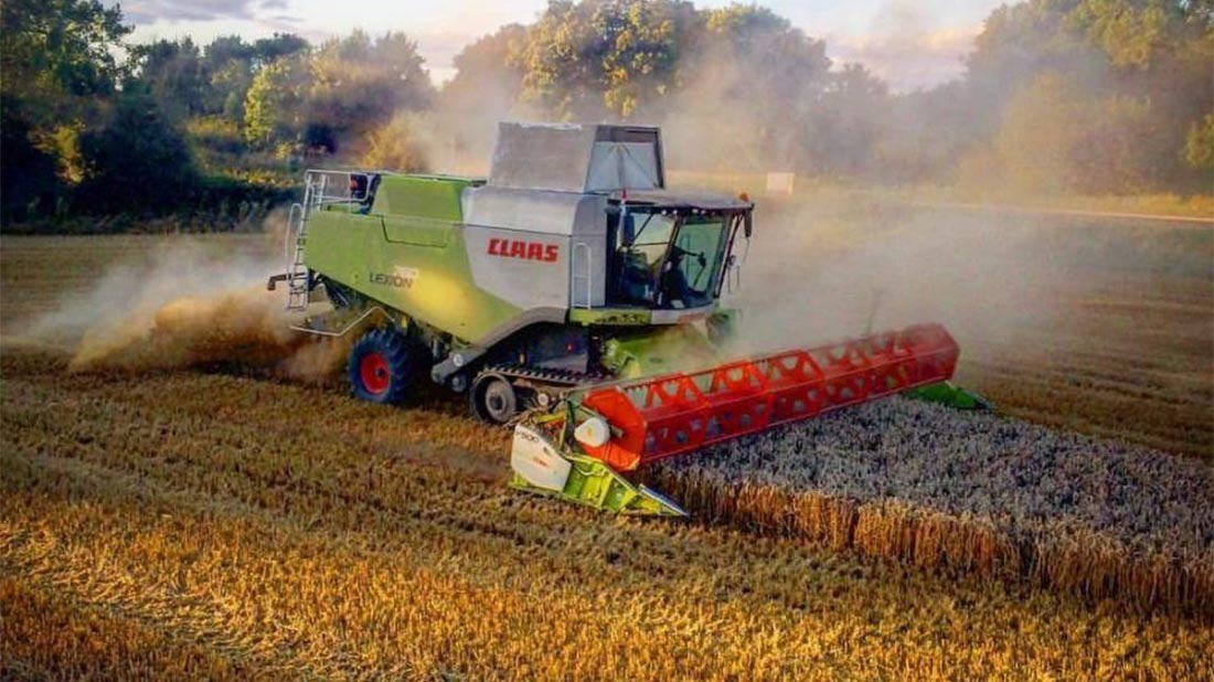 Cracking on with Oilseed rape harvest in Norfolk - Ashley Day