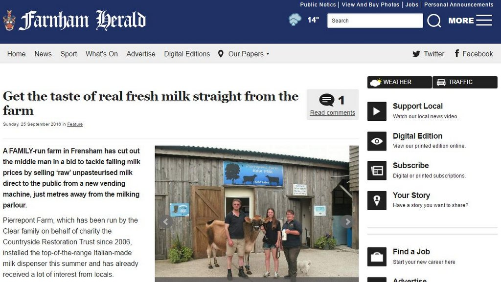 Get the taste of real fresh milk straight from the farm