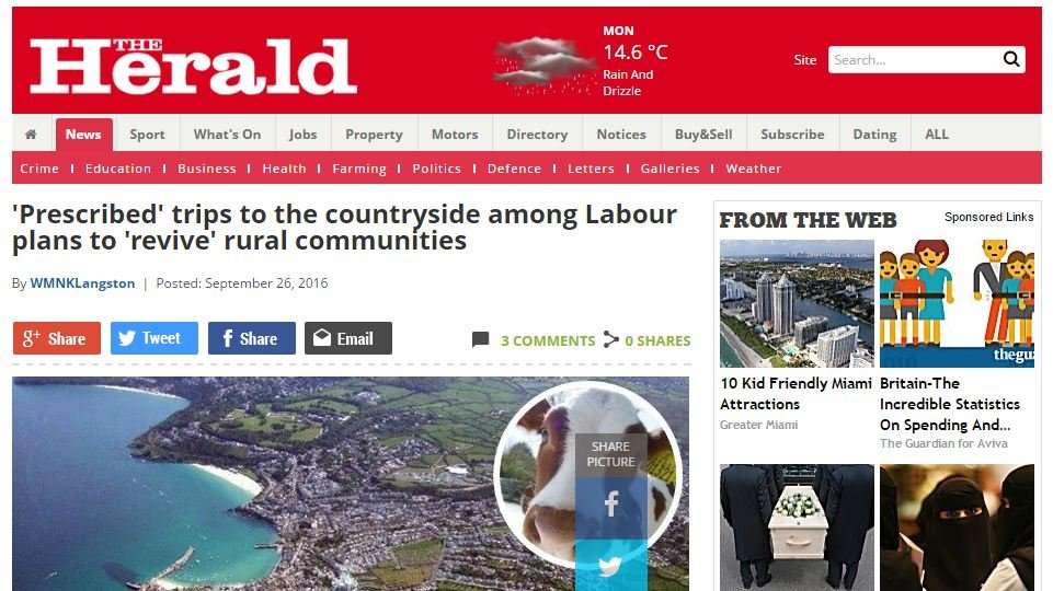 'Prescribed' trips to the countryside among Labour plans to 'revive' rural communities