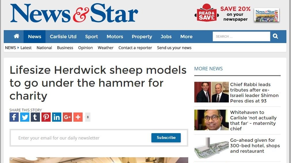 Lifesize Herdwick sheep models to go under the hammer for charity