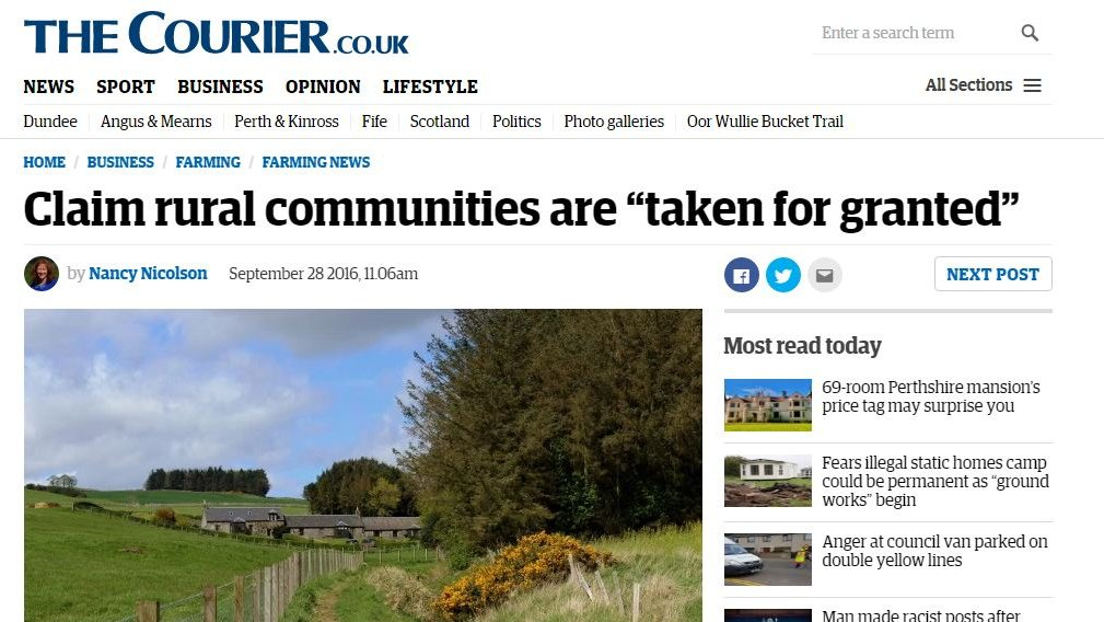 """Claim rural communities are """"taken for granted"""""""