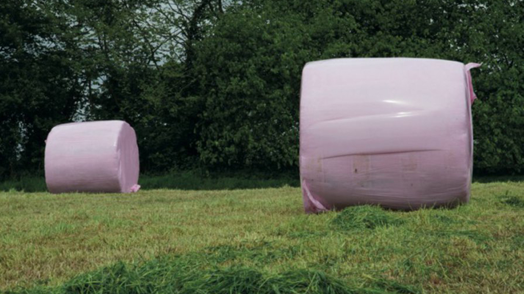 Pink bales in aid of breast cancer charity hailed a huge success