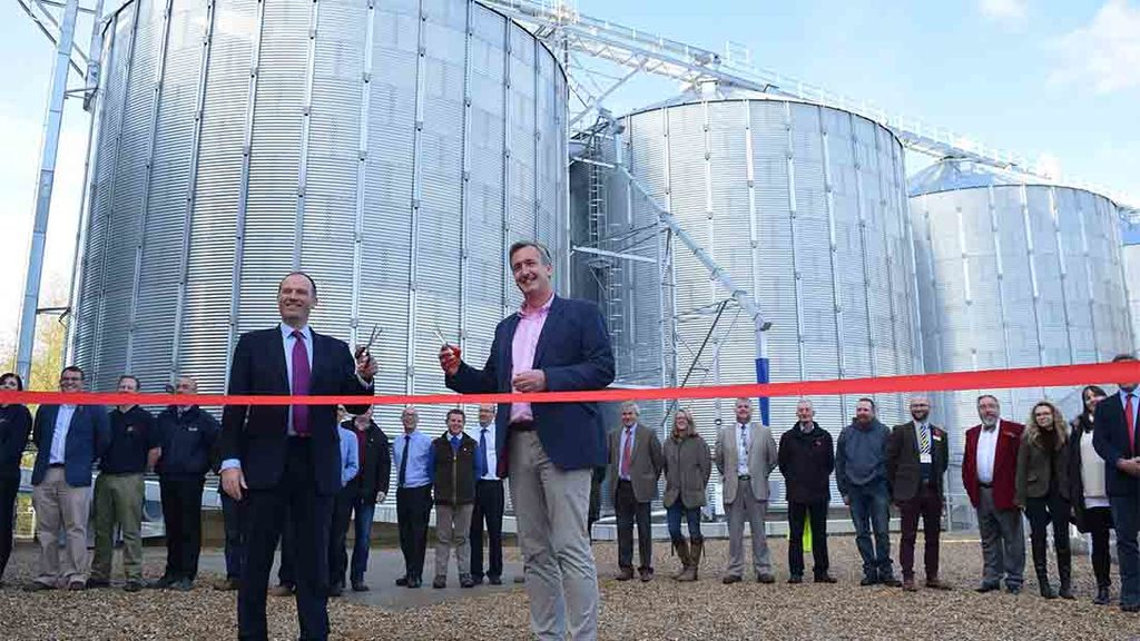Fengrain and Crisp Malting open Norfolk malting barley storage facility