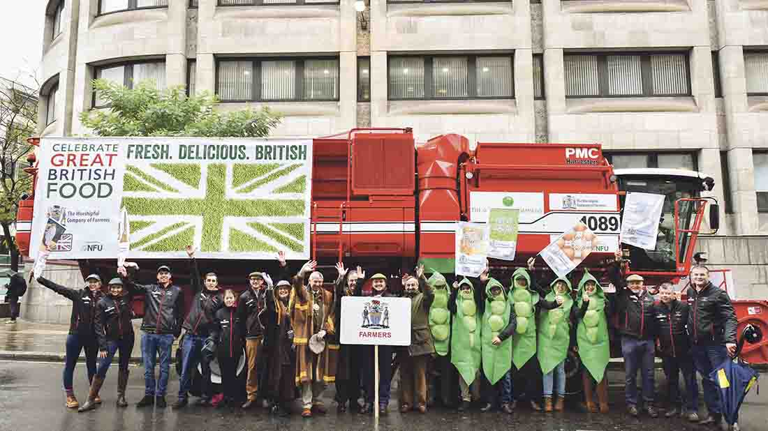 The NFU group supporting Back British Farming at the Lord Mayor's Show last year.
