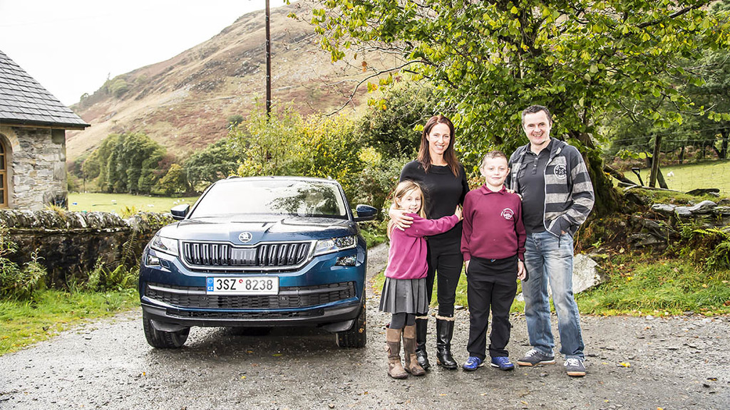 Meet the farming family who have to battle flooding, fallen trees and farmyard animals on the school run